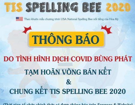 thông báo hoãn spelling bee